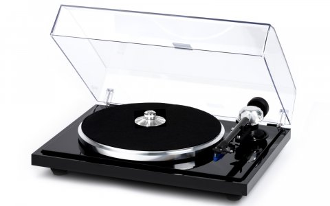 E.A.T. B-Sharp turntable; The B-Sharp sheds all of the non-essential cosmetic adornments of the C-Major without compromising performance or mechanical integrity, providing vinyl enthusiasts with a superb playback option at a more affordable price.