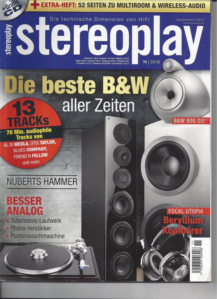 Stereoplay Magazine, November 2016