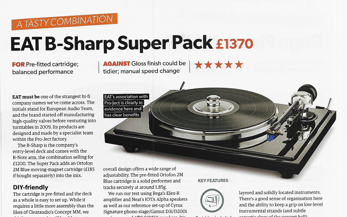 E.A.T. B-Sharp review by What Hi-fi?