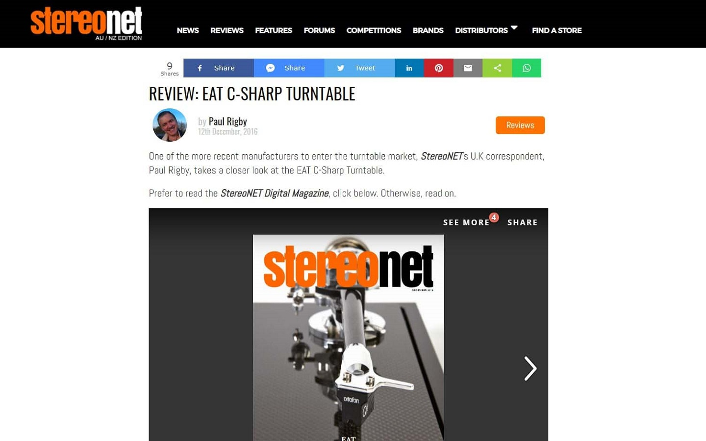 E.A.T. C-Sharp review by StereoNET