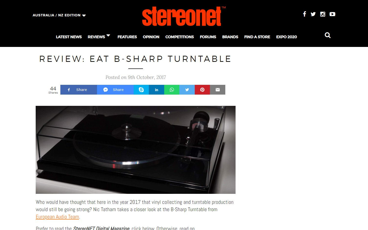 E.A.T. B-Sharp review by StereoNET