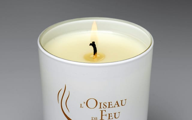 L'Oiseau de Feu Or Candle; Exquisite candle collection L'Oiseau de Feu Or